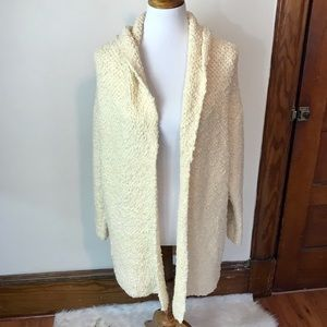 Free People Open Front Textured Cardigan Sweater